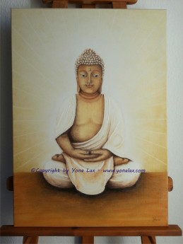 BUDDHA • VB • 70x50cm (Acrylpaste, Pastsellkreide)