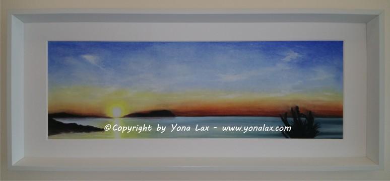SONNENUNTERGANG II • 180€ • 58,5x19,5cm/72x31cm (Panorama nur mit Rahmen, Preis kompl.)
