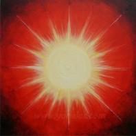 Sonne • Mischtechnik • Wunschbild für Elke Wiest